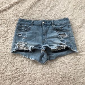 AEO Jean Shorts with Lace Details on Pockets